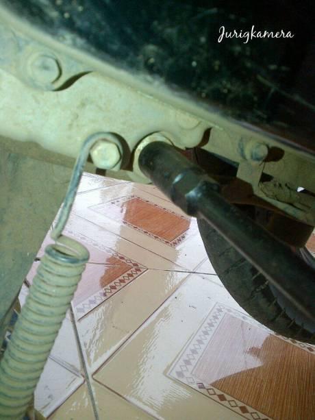 buka baud mesin di pinggir